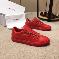 Balenciaga Men's Leather Fashion Low Top Sneakers Shoes-DCCK