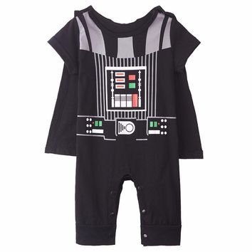 Star Wars Force Episode 1 2 3 4 5 Baby Boys Darth Vader Costume  War Infant Romper with Cape Size 0-24 Months AT_72_6