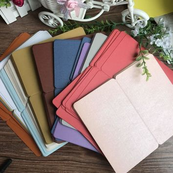10pc/pack DIY Blank Fold Cards Hand Drawn Doodle Cards Paper Cards Happy Birthday Card