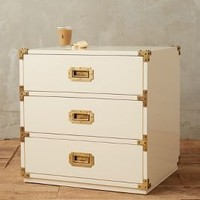 Lacquered Wellington Three-Drawer Dresser by Anthropologie