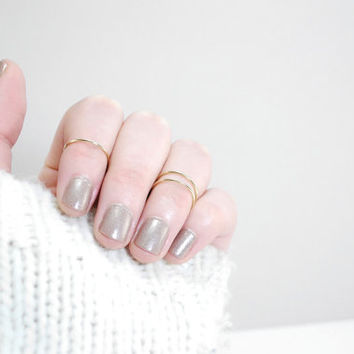 Knuckle ring - 14K Gold filled knuckle ring - simple and dainty knucle ring - delicate knuckle gold ring - knucle gold ring