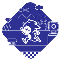 Sonic Art Print by Ukko