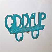 "Turquoise ""Giddy Up"" Wall Hook by AquaXpressions"