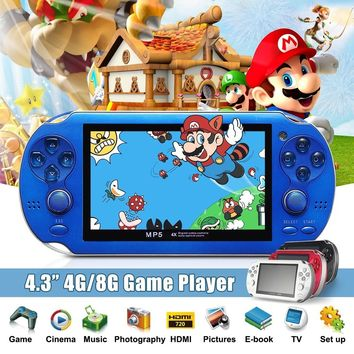 4GB 8GB 4.3 Inch Video Game Console 4 Colors Built In 2000 Games