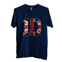 One direction 1D England Flag Men Shirt size S to 2XL Color Navy