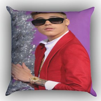 justin bieber X1078 Zippered Pillows  Covers 16x16, 18x18, 20x20 Inches