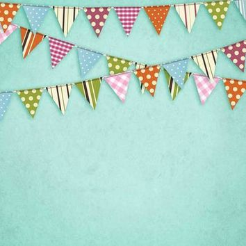 TEAL FLAGS BACKDROP - 6x8 - LCPC9088 - LAST CALL