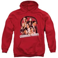 CRIMINAL MINDS/BRAIN TRUST-ADULT PULL-OVER HOODIE-RED