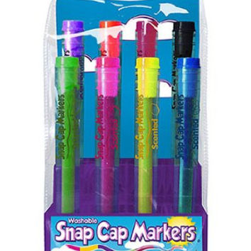 Snap Cap Markers 8Pk Bold Washable Scented Markers