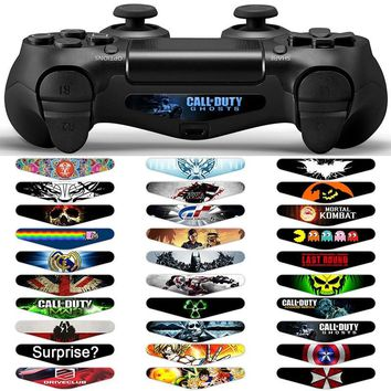 30PCS LED Light Bar Cover Decal Skin Sticker for Sony PlayStation 4 PS4 Gamepad for Dualshock 4 PS4 Controller Game Accessories