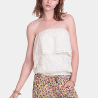 Monica Lace Detail Tube Top By Line & Dot