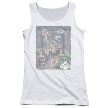Jurassic Park - Giant Door Juniors Tank Top Officially Licensed Apparel