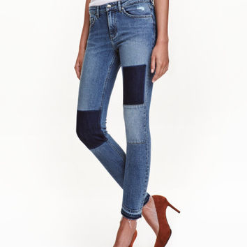 Slim Patchwork Jeans - from H&M