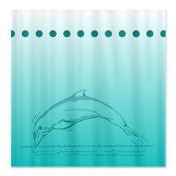 Jumping Dolphin Shower Curtain> Shower Curtains> We Tees You