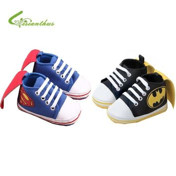 Batman Dark Knight gift Christmas New Superman Baby Shoes 2018 New Fashion Batman Cartoon Toddler Infants Shoes 11cm 12cm 13cm Baby Boys Shoes First Walkers AT_71_6