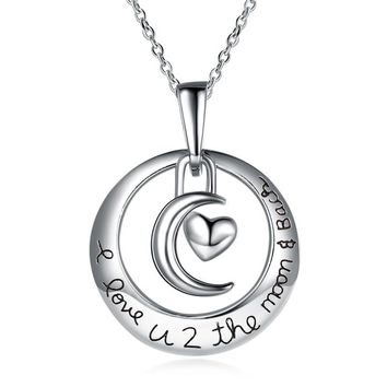 Round Crescent Heart Shape Simple Style Geometric Necklace