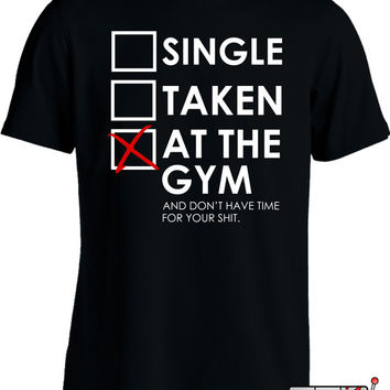 Funny Workout Shirt Gym Rat Fitness T Shirt Single Taken At The Gym Bodybuilding Joke Mens Tee MD-139