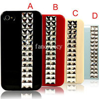 iPhone case Studded iPhone 4 Case - studded iphone case- studded iphone 4s case pyramid stud iphone 4 case punk iphone cover