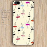 iPhone 5s 6 case colorful ballet dancer beard of fashion phone case iphone case,ipod case,samsung galaxy case available plastic rubber case waterproof B392