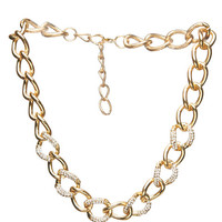 Blingy Rhinestone Chain Necklace | Wet Seal