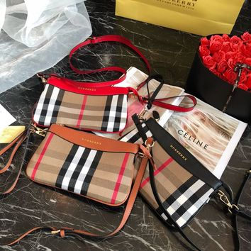 Burberry Vintage Check and Leather Crossbody Bags