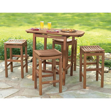 The Brazilian Eucalyptus Pub Table And Stools