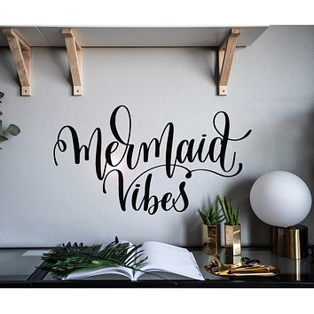 Vinyl Wall Decal Letter Phrase Mermaid Vibes Decor Stickers Mural gz003