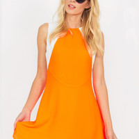 Orange Dream Machine Dress Size: S