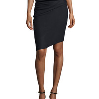 Pencil Skirt W/Asymmetric Hem,