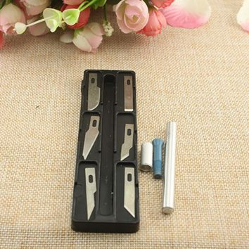 6 Blades Metal Multifunction Scrapbooking Model Wood Carving Tools Fruit Food Craft Knife Carving Knife Tool Set Diy Hand Tools