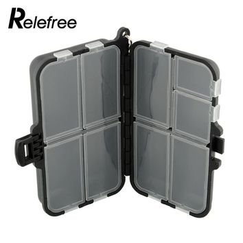 Relefree Fishing Tackle Box 9 Compartments Fishing Spinner Bait Plastic Storage Waterproof Fishing Tackle Box