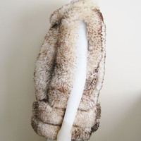 The Shearling - Vintage 70s Shearling Lamb Skin and Leather Vest Street Style
