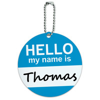 Thomas Hello My Name Is Round ID Card Luggage Tag