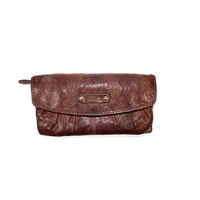 Fossil leather wallet clutch purse