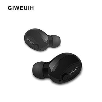Bluetooth Headphones with USB Magnetic Charger Bluetooth V4.1+ EDR True Wireless Earbuds Noise Cancelling HD Stereo Mini Invisible Headset for iPhone, ipad, Smartphones, Laptop