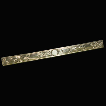 Silver Art Nouveau Bar Pin