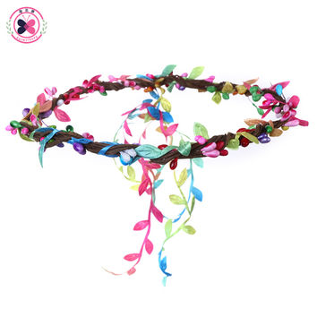haimeikang Berries Rattan Flowers Headdress Wreath of Flowers Hair Accessories for Women Rim with Flowers for Hair