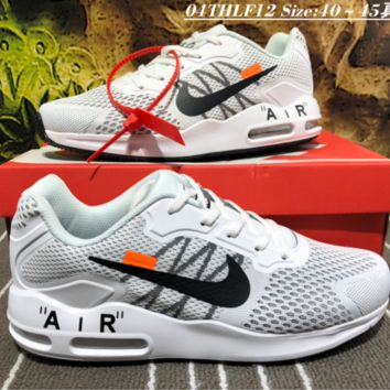 auguu Nike Air Max Guile Off White Tavas Knitted Running Shoes White
