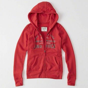 Abercrombie & Fitch Women Fashion Casual Cardigan Jacket Coat Hoodie-13