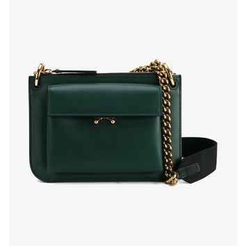 Wallet Two-Tone Leather Shoulder Bag - MARNI