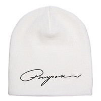 Purpose By Justin Bieber Embroidered Knit Beanie