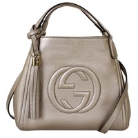 Gucci Soho Leather Shoulder Handbag 336751, Brown Taupe