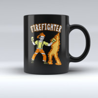Firefighter Boxing Coffee Mug