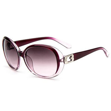 Cut Out Inlay Tinted Sunglasses