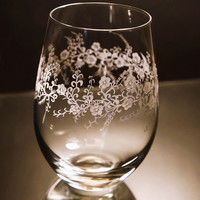 Floral collection, Stemless Glass