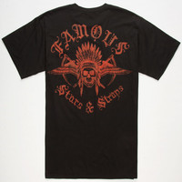 Famous Stars & Straps Chief Mens Pocket Tee Black  In Sizes