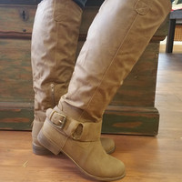 Take Me Higher Boots: Taupe