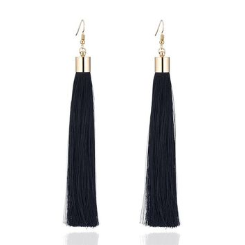 17 Color Vintage Earrings For Women Jewelry Earrings Ancient Long Tassel Drop Earrings Dangle Gift