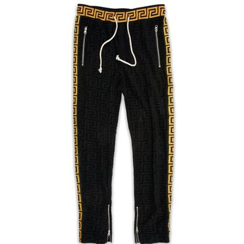 Embossed Terry Track Pants