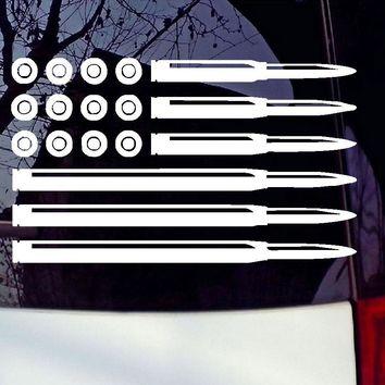 Bullet American Flag Bumper Decal USA Pro Gun Rights Infidel Car Sticker